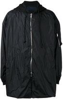 Juun.J oversized hooded coat - men - Cotton/Nylon/Polyester/Polyurethane - 50