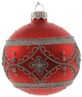 Decoris Handpainted Bauble with Delicate Border