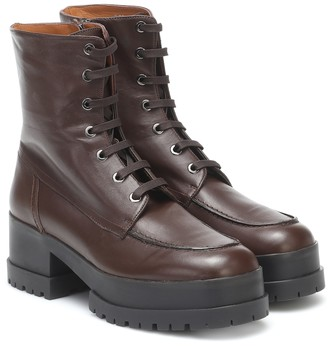Clergerie Waddie leather platform ankle boots