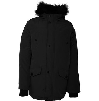 Brave Soul Junior Boys Wonderwall Hooded Parka Black