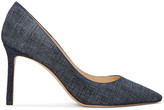 Jimmy Choo Indigo Denim Romy Heels