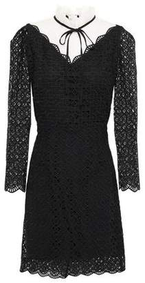Sandro Cristina Pussy-bow Guipure Lace Mini Dress