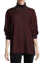 M Missoni Metallic Jersey Turtleneck Sweater