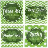 Bed Bath & Beyond St. Patrick's Day Glass Coasters (Set of 4)