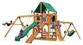 Gorilla Playsets Frontier Swing Set with Amber Posts & Deluxe Green Vinyl Canopy