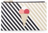 Shiraleah Sorrento Faux Leather Ice Cream Zip Pouch