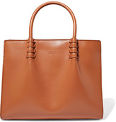 Tod's Lady Moc Mini Leather Tote - Tan