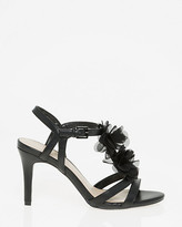 Le Château Leather-Like Floral T-Strap Sandal