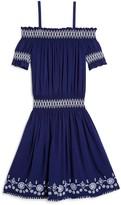 Ella Moss Girls' Embroidered Off-the-Shoulder Dress