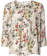 Only **Only 3/4 Sleeve Botanic Print Top