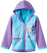 """Disney Disney's Frozen Girls 2-8 Elsa """"Make Your Own Magic"""" Rain Coat"""