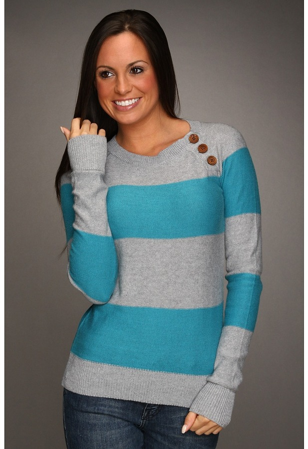 Roxy Bear Valley Sweater (Current Blue) - Apparel