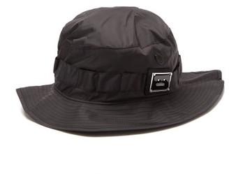 Acne Studios Face-patch Nylon Bucket Hat - Black