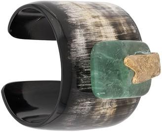 Forte Forte Stone Embellished Cuff Bracelet
