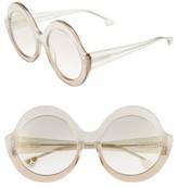 Alice + Olivia Women's Stacey 56Mm Round Gradient Lens Sunglasses - Black/ White