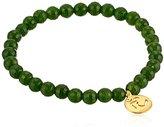 """Satya Jewelry Classics"""" Om Jade Stretch Bracelet"""