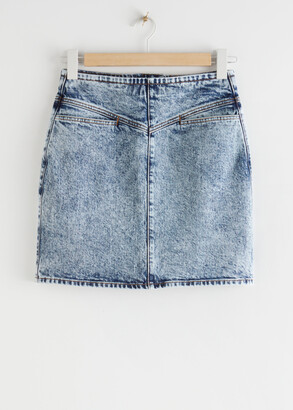And other stories Fitted Denim Mini Skirt