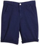 Stella McCartney Lucas Cuffed Chino Shorts, Blue, Size 4-10