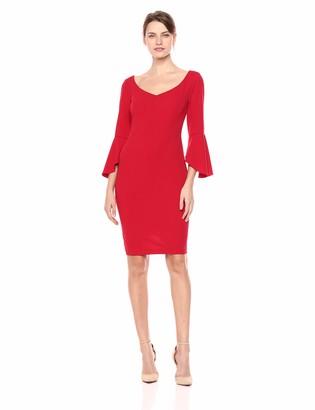 Alex Evenings Women's Short Sheath Dress with Sleeves (Petite and Regular)