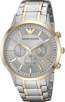 Emporio Armani Men's 'Dress' Quartz Stainless Steel Casual Watch, Color:Silver-Toned (Model: AR11076)
