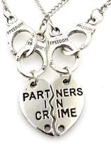 GBC Chic Heart - Partner in Crime Friendship Necklaces- Best Friends Forever gift - Mother Daughter- Minimalist Jewelry Bridesmaid Gifts handcuffs