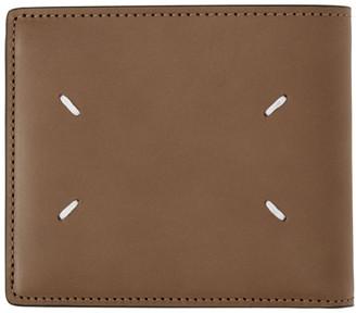 Maison Margiela Beige Zip Card Case Wallet
