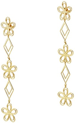 Amorcito Gold Celestial Dangle Earrings