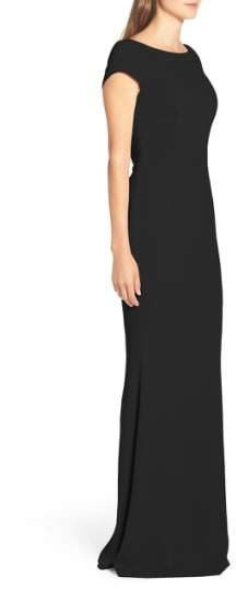 Katie May Women's Plunge Knot Back Gown