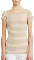 Lauren Ralph Lauren Striped Off-the-Shoulder Tee