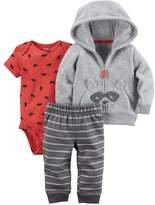 Carter's Baby Boy Microfleece 3D Raccoon Jacket