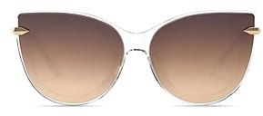 Krewe Women's Laveau 24K Mirrored Cat Eye Sunglasses, 62mm