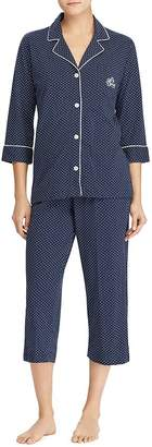 Ralph Lauren Bingham Knits Cotton Jersey Cropped PJ Set