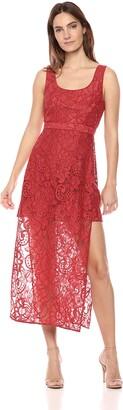 BCBGMAXAZRIA Azria Women's Sleeveless Floral Lace Sheath Dress