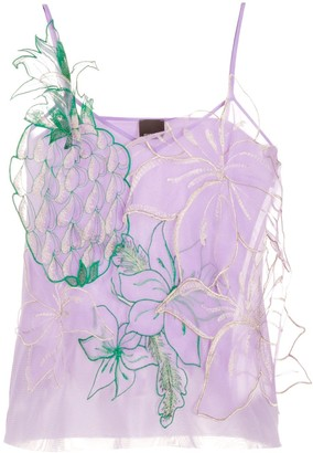 Pinko Embroidered Pineapple Detail Top