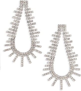 CRISTABELLE Crystal Open Teardrop Earrings
