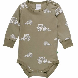 Fred's World by Green Cotton Baby Boys' Tractor Body Toddler Sleepers