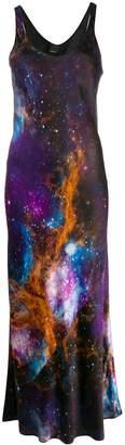 Pinko Long Space Print Dress
