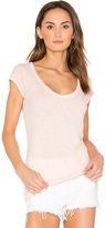 Velvet by Graham & Spencer Sumette Slub Tee in Pink