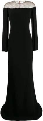 Stella McCartney off-the-shoulder mesh gown