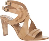 Max Studio Wade- Raw Edged Leather Ankle Strap Sandals