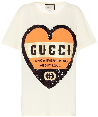 Gucci Sequined cotton T-shirt
