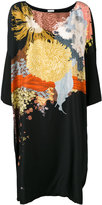 Dries Van Noten patterned flare dress - women - Silk - One Size