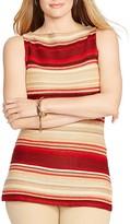 Lauren Ralph Lauren Plus Archard Linen-Cotton Striped Sweater