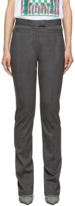 Proenza Schouler Grey Skinny Zip Trousers