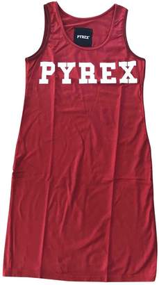 Pyrex Red Cotton Dress for Women