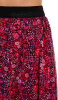 T Tahari Winnie Floral Print Beaded Fringe Skirt