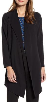 Anne Klein Drape Front Long Jacket