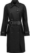 Alexander Wang Oversized leather-trimmed cotton-blend trench coat