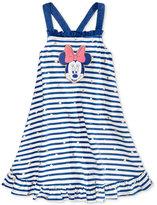 Disney Disney's® Minnie Mouse Foil Star Striped Trapeze Dress, Toddler & Little Girls (2T-6X)