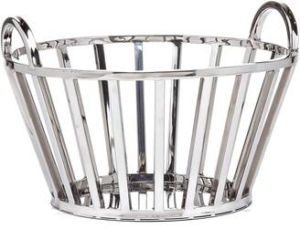 Torre & Tagus Divide Stainless Steel 13In Diameter Handle Basket